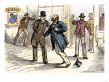 Assassination of President James Garfield in a Washington DC Train Station, 1881 Giclee Print