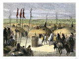 Mandan Village around a Sacred Ark, or Big Canoe Cylinder Giclee Print