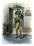 Tiny Tim Carried in Celebration, from Dickens&#39; a Christmas Carol Giclee Print