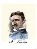 Inventor Nikola Tesla, with His Signature Giclee Print
