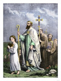 Saint Patrick Journeying to Tara to Convert the Irish, 5th Century Ad Giclee Print