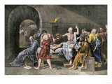 Suicide of Socrates by Drinking Poisonous Hemlock, Ancient Greece Giclee Print