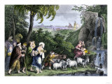 Abraham Departs for Canaan with Lot and the Rest of His Family Giclee Print