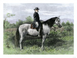 Confederate General Robert E. Lee on His Favorite War-Horse, Traveler Giclee Print