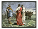 Cincinnatus on His Farm, Accepting Dictatorship of Rome from the Senate, 458 Bc Giclee Print