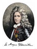 Pierre Le Moyne, Sieur D'Iberville, Portrait with Autograph Giclee Print