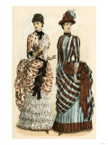 Godey's Ladies' Fashions, 1880s Giclee Print