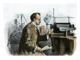 Professor J. J. Thomson in His Laboratory Giclee Print