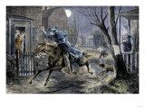 Paul Revere's Ride to Rouse Minutemen before the Battle of Lexington, April 19, 1775 Giclee Print