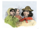 Cherokees in Modern Dress, 1890s Giclee Print
