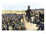President Lincoln's Address on the Battlefield at Gettysburg, November 19, 1863 Giclee Print