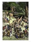 King Hiram of Tyre Brings Men to Help the Israelites Cut Cedars to Build Solomon's Temple Giclee Print