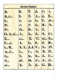 Cherokee Alphabet Developed by Sequoyah Giclee Print
