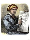 Sequoya Holding His Cherokee Alphabet Giclee Print