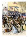 General Ambrose Burnside and His Rhode Island Troops Entering Knoxville, During the Civil War, 1863 Giclee Print