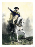 General George Washington in Battle on Horseback, Revolutionary War Lmina gicle