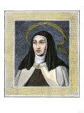 Saint Teresa of Avila, Founder of the Carmelite Reform Convent, 1500s Giclee Print