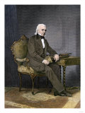 President James K. Polk at His Desk Giclee Print