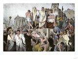 Marc Antony's Oration over Julius Caesar's Body in Ancient Rome, 44 Bc Giclee Print