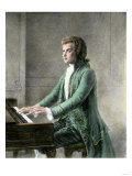 Wolfgang Amadeus Mozart at the Keyboard Giclee Print