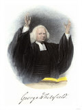 Methodist Evangelist George Whitefield, with His Autograph Giclee Print
