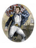 Us Navy Commander Oliver Hazard Perry During the Battle of Lake Erie, War of 1812 Giclee Print