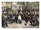 Napoleon's Farewell to the Imperial Guard at Fontainebleau Palace, 1814 Giclee Print