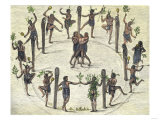 Ceremonial Dance of the Carolina Indians, 1500s, Giclee Print