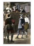 Quaker Man on Trial in an English Courtroom Giclee Print