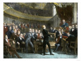 Henry Clay Arguing in the Us Senate for the Compromise of 1850 to Avert Civil War Giclee Print