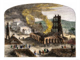 Confederate Quantrill Raid Burns Lawrence, Kansas, 1863 Giclée-Druck