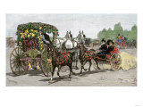 Some Decorated Carriages in the Tournament of Roses Parade, Pasadena, California, 1891 Giclee Print
