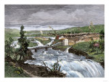 Spokane Falls before the Great Fire, Washington Territory, 1880s Giclee Print