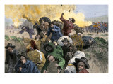Massacre of Chinese Immigrants at Rock Springs, Wyoming, 1885 Giclee Print