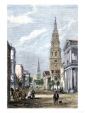 Street in Charleston, South Carolina, During the Secession Convention Giclee Print
