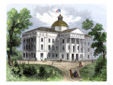 North Carolina State Capitol at Raleigh in the 1850s Giclee Print