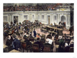U.S. Senate Debating Legislation in the Late 1800s Giclee Print