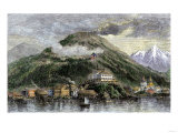 Sitka, or New Archangel, Capital of Alaska in 1869, When Purchased from Russia Giclee Print