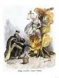 Justice Burned, Entitled Judge Lynch's Latest Victim Giclee Print