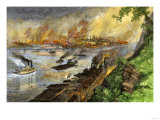 Steel Mills Darken the Sky over Pittsburgh, Pennsylvania, 1880s Giclee Print