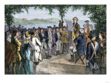 Ohio Pioneers Installing Territorial Government at Marietta, Late 1700s Giclee Print
