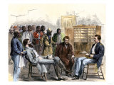 New Laws are Explained to Former Slaves at the Freedmen's Bureau in Memphis, Tennessee, 1866 Giclee Print