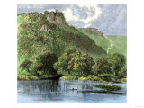 Bluffs Along the Mississippi River North of La Crosse, Wisconsin Giclee Print