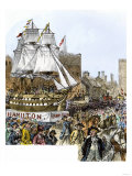 New York Celebrating Adoption of the Us Constitution with a Parade Honoring Alexander Hamilton Giclee Print