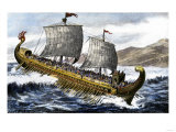 A Trireme, with Three Banks of Oars, Used by the Ancient Greeks and Romans Giclee Print