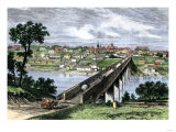 Bridge across the Tennessee River at Knoxville, 1870s Giclee Print