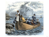 John Alden and Mary Chilton Landing at Plymouth from the Mayflower, December 1620 Giclee Print