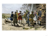 Colonial Surveyors Laying Out Baltimore Town, January 12, 1730 Giclee Print