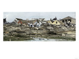 Hurricane Devastation in a Residential Area of Galveston, Texas, 1901, Giclee Print