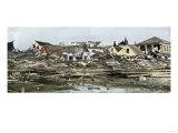 Hurricane Devastation in a Residential Area of Galveston, Texas, 1901, Giclee Print